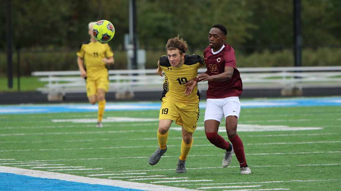 Perry's Two Goals, Winner Boost 'Jackets over No. 14 Central in NCAA Opener