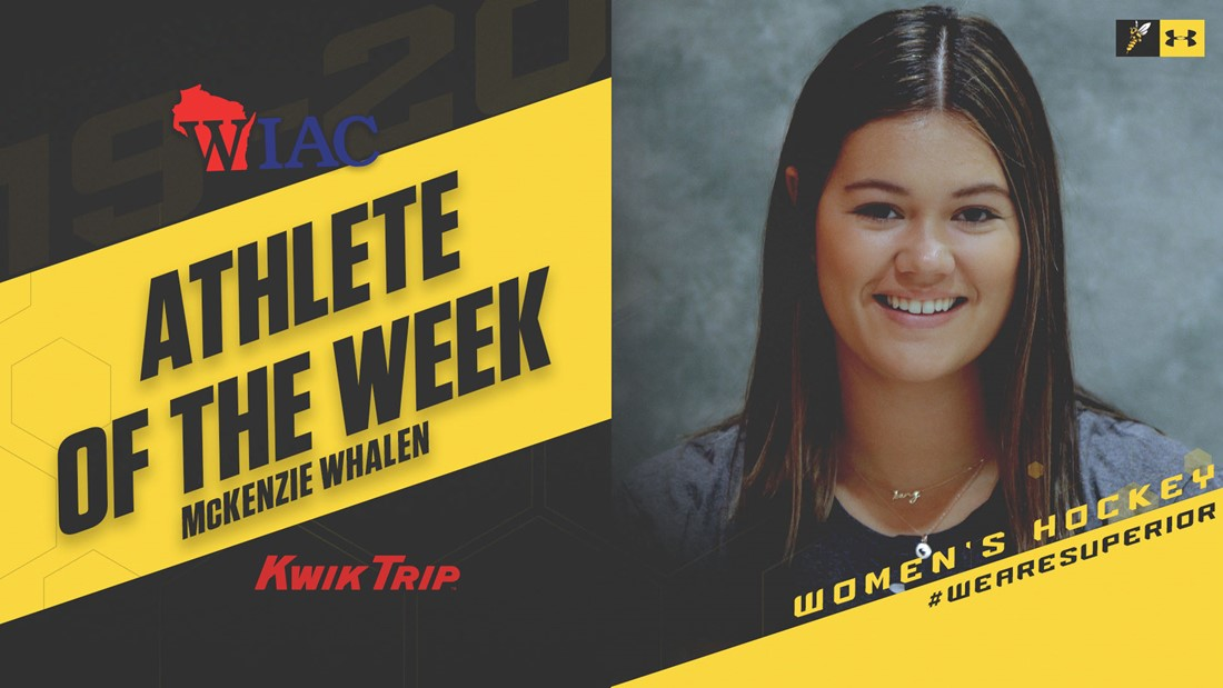 Whalen Earns WIAC Kwik Trip Athlete of the Week Honors a Second Time