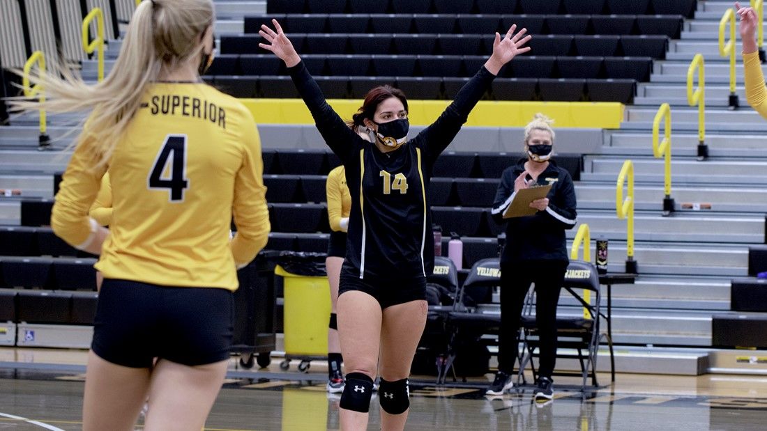 Yellow Rolls to Second Straight Sweep over Black